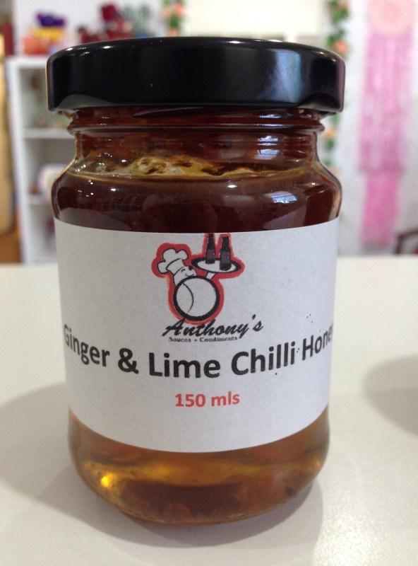 Ginger and lime chilli honey